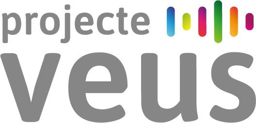 Logo Projecte Veus, de Mamen Gallego ( maga.cat) i Helena López. Veus de Cantoni.